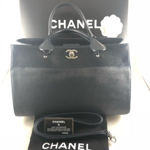 Authentic Chanel Large Executive Tote Caviar Navy